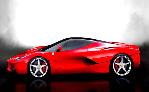 British Open Digital Art - The Laferrari by Brian Reaves