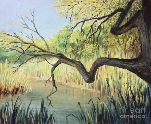 Wall Art - Painting - The Lake Of Silence by Kiril Stanchev