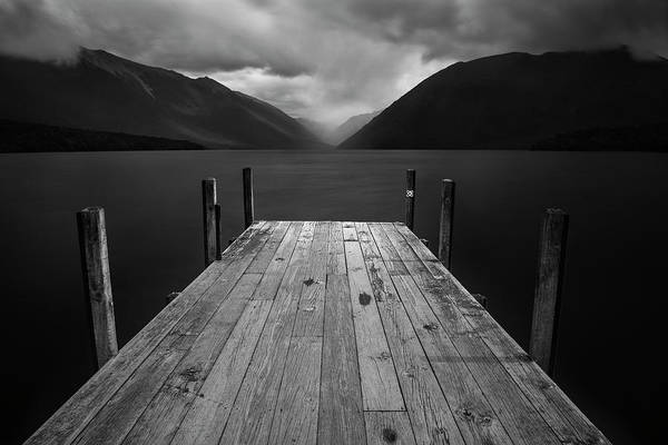 Wood Planks Photograph - The Lake by Yan Zhang