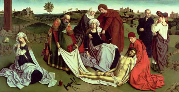 Faint Wall Art - Photograph - The Lamentation Over The Dead Christ Oil On Panel by Petrus Christus