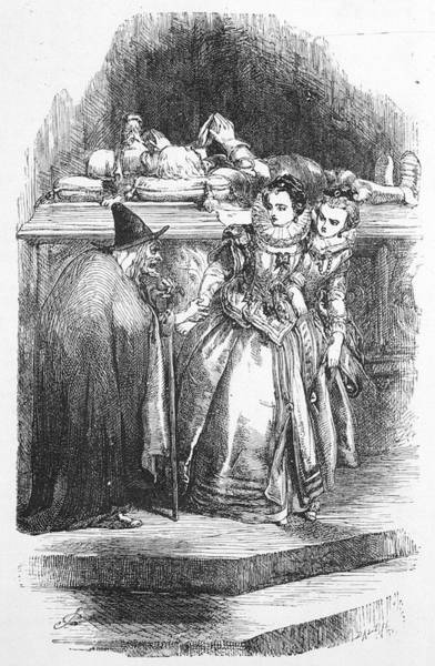 Sorcery Drawing - The Lancashire Witches Mother Chattox by Mary Evans Picture Library