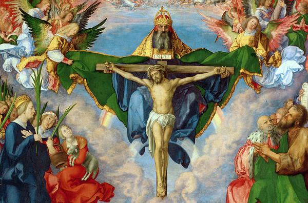 Wall Art - Painting - The Landauer Altarpiece by Albrecht Durer