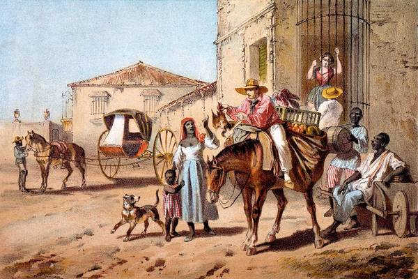 Transport Drawing - The Landlord, 1840 by Federico Mialhe