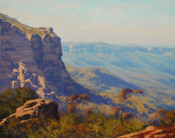Wall Art - Painting - The Landslide Katoomba by Graham Gercken