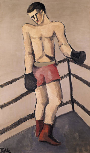 Boxing Painting - The Large Boxer by Helmut von Hugel Kolle