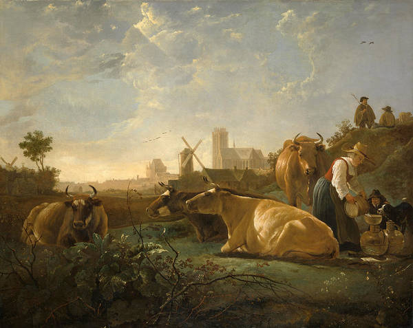 Cuyp Wall Art - Painting - The Large Dort by Aelbert Cuyp