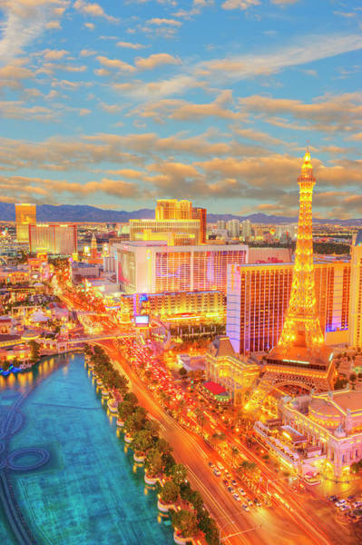 Las Vegas Photograph - The Las Vegas Strip At Dusk by Mitchell Funk