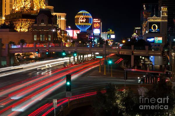 The Las Vegas Strip Art Print by Eddie Yerkish
