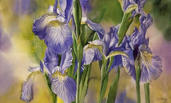 Painting - The Last Blue Irises by Alfred Ng