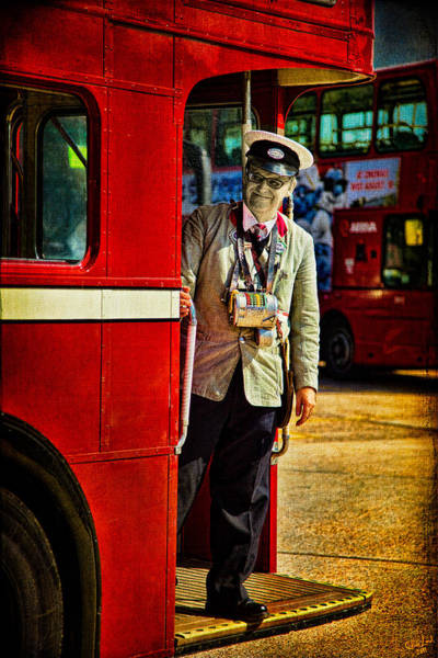 Photograph - The Last Bus Conductor by Chris Lord
