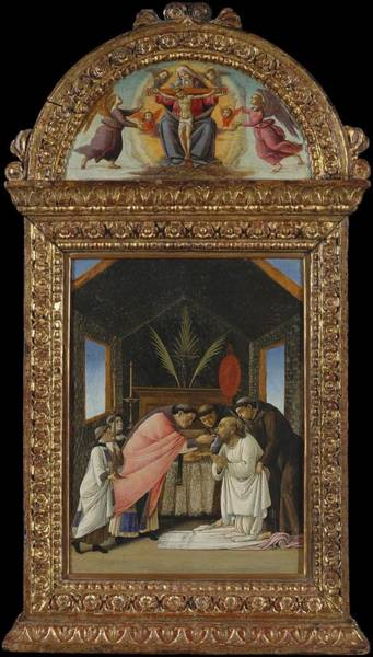 Botticelli Wall Art - Painting - The Last Communion Of Saint Jerome by Botticelli