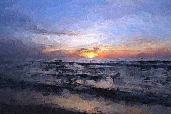 Baltic Sea Painting - The Last Light by Steve K