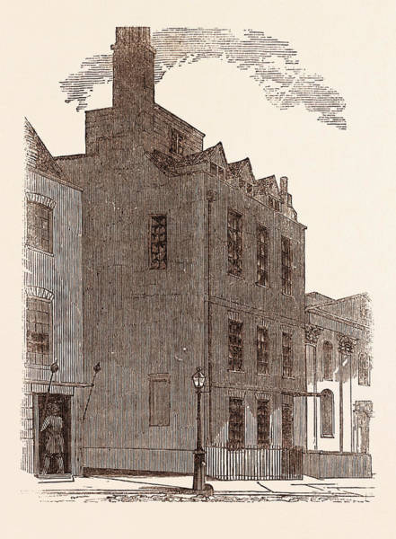 Wall Art - Drawing - The Last London Residence Of Sir Isaac Newton by English School