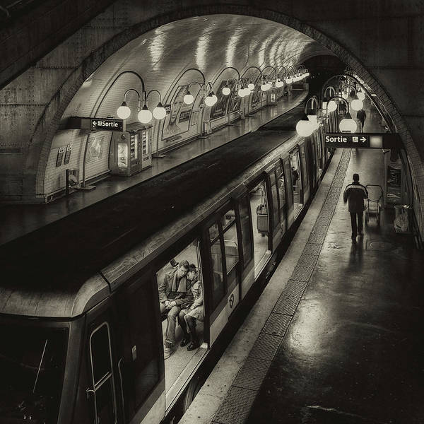 Tire Photograph - The Last Metro by Thomas Siegel