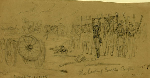 Wall Art - Drawing - The Last Of Ewells Corps April 6, Drawing, 1862-1865 by Quint Lox