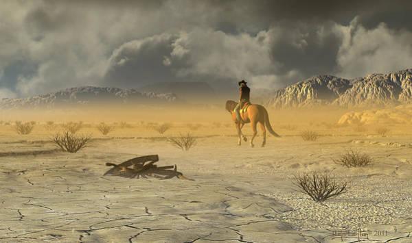 Digital Art - The Last Ranger by Dieter Carlton