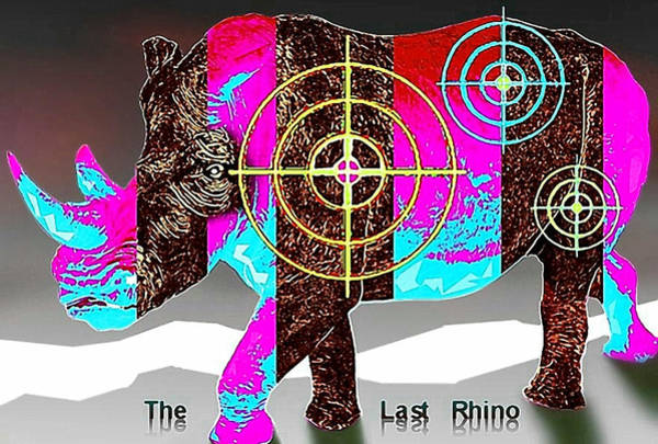 Respect Digital Art - The Last Rhino by Hartmut Jager