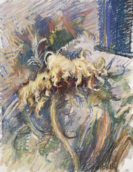 Painting - The Last Sunflower by Ellen Dreibelbis