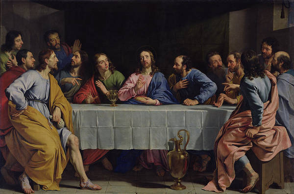New Testament Photograph - The Last Supper by Philippe de Champaigne