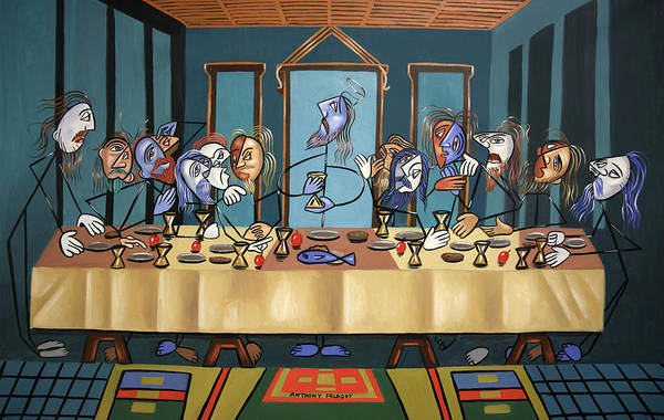 Holy Spirit Painting - The Last Supper by Anthony Falbo