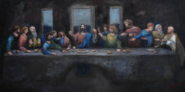 Wall Art - Painting - The Last Supper by Carole Foret