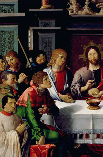 Communion Painting - The Last Supper by French School