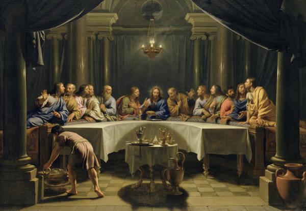 Wall Art - Painting - The Last Supper by Jean Baptiste de Champaigne