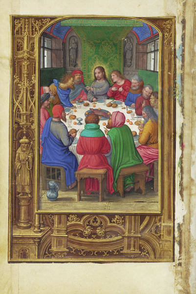 Wall Art - Painting - The Last Supper Simon Bening, Flemish, About 1483 - 1561 by Litz Collection