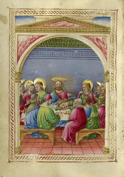 Wall Art - Painting - The Last Supper Taddeo Crivelli, Italian, Died About 1479 by Litz Collection
