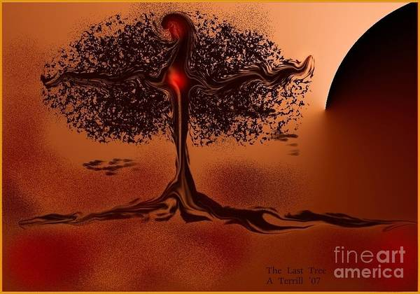 Digital Art - The Last Tree by The Art of Alice Terrill
