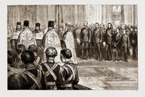 Feb Wall Art - Drawing - The Late Czar Alexander II. Te Deum In The Imperial Chapel by Litz Collection