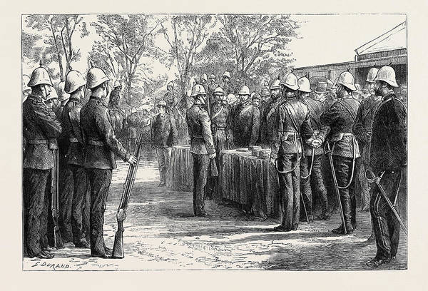 Distribution Drawing - The Late Zulu War Distribution Of Medals by English School