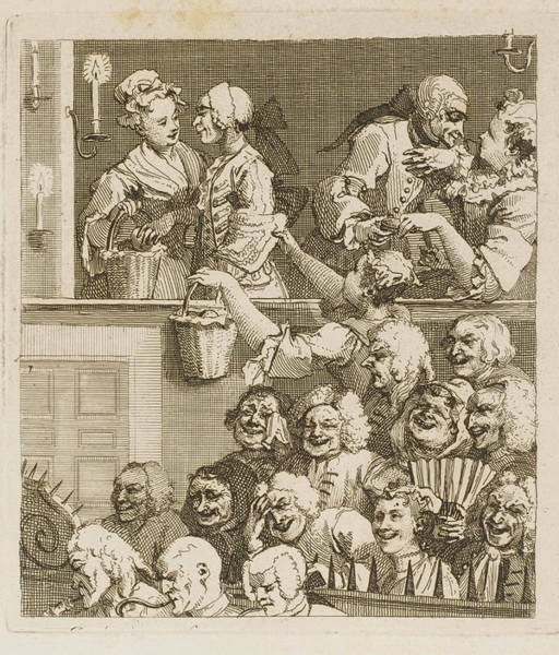 Laugh Drawing - 'the Laughing Audience'          Date by Mary Evans Picture Library