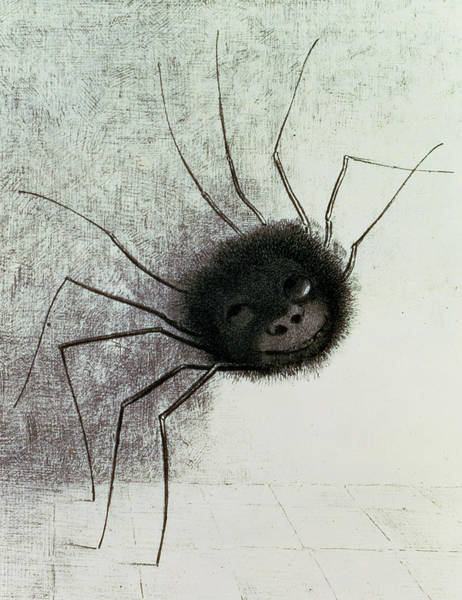 Insects Drawing - The Laughing Spider by Odilon Redon