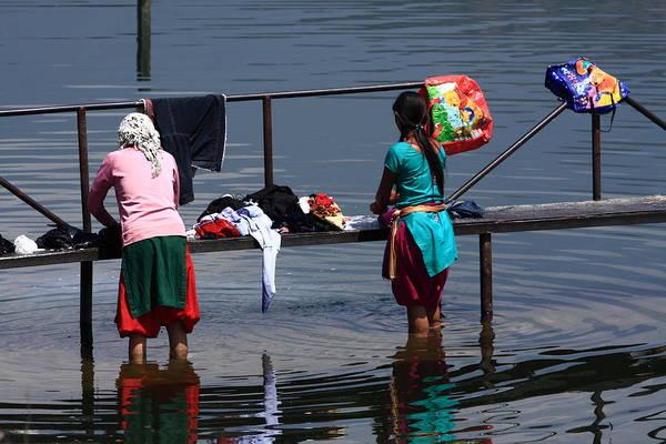 Photograph - The Laundry - Nepal by Aidan Moran