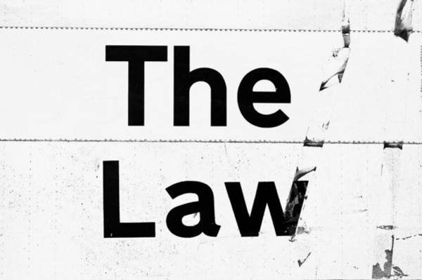 Notice Photograph - The Law by Tom Gowanlock
