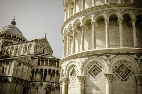 Wall Art - Photograph - The Leaning Tower And Pisa Cathedral by Russ Bishop