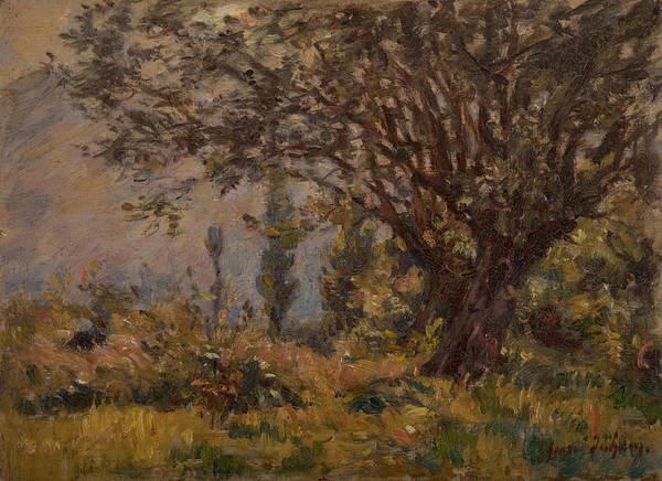 Thicket Wall Art - Painting - The Leaning Tree  by Henri Duhem