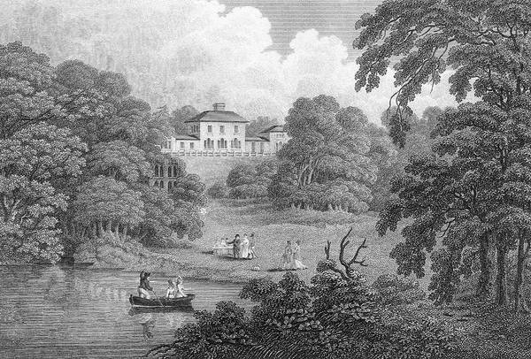 Wall Art - Drawing - The Leasowes, A Shropshire Garden by Mary Evans Picture Library