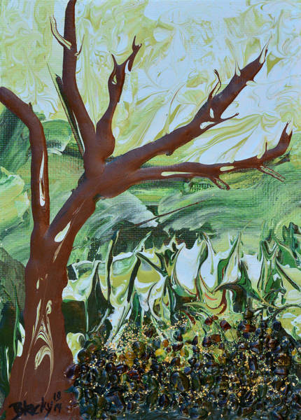 Wall Art - Painting - The Leaves Have Fallen by Donna Blackhall