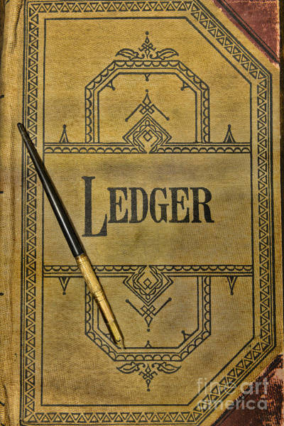 Bookkeeper Photograph - The Ledger by Paul Ward
