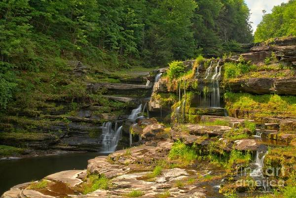 Photograph - The Ledges Waterfalls by Adam Jewell