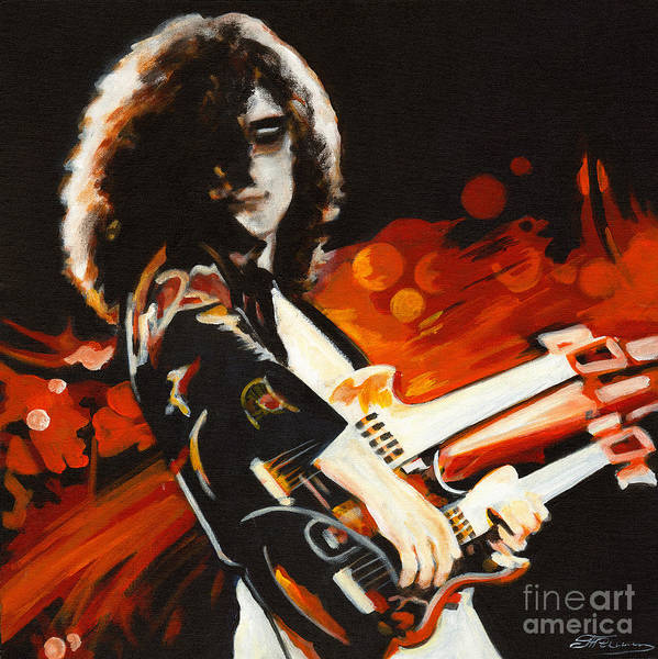 Painting - Stairway To Heaven. Jimmy Page  by Tanya Filichkin
