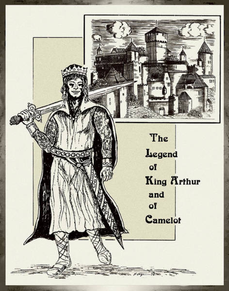 Drawing - The Legend Of A King by Hartmut Jager