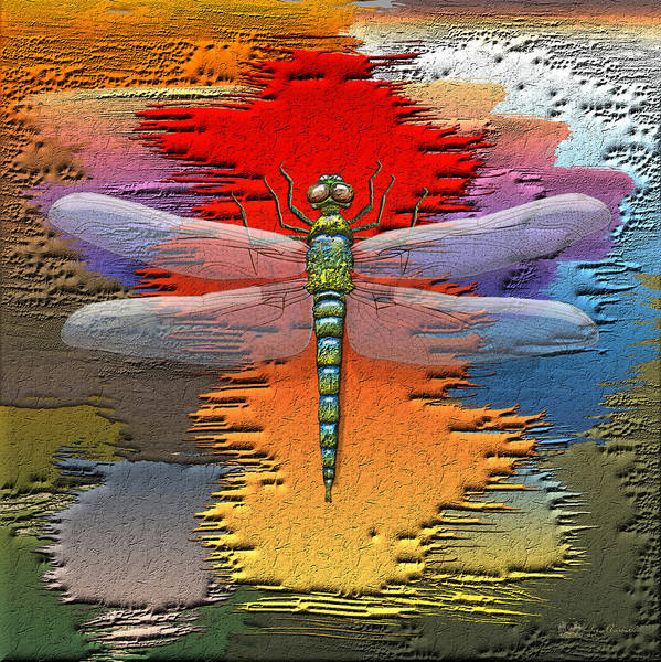 Digital Art - The Legend Of Emperor Dragonfly by Serge Averbukh