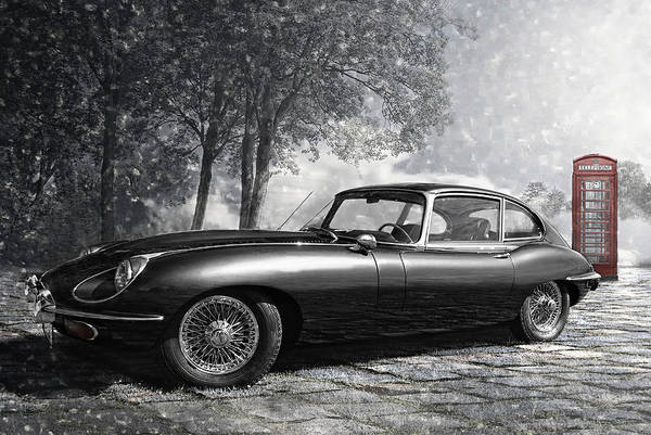 Black Cats Photograph - the legendary E-Type by Joachim G Pinkawa