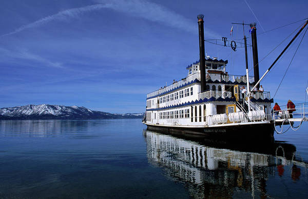 South Lake Tahoe Photograph - The Legendary Tahoe Queen Cruise Boat by Christina Lease