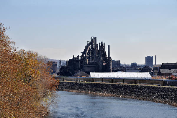 Photograph - The Lehigh River And Bethlehem Steel by Bill Cannon