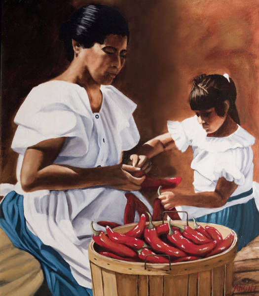 Latina Painting - The Lesson by Jack Atkins