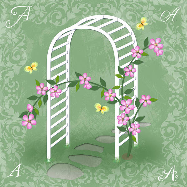 Arbor Digital Art - The Letter A For Arbor by Valerie Drake Lesiak